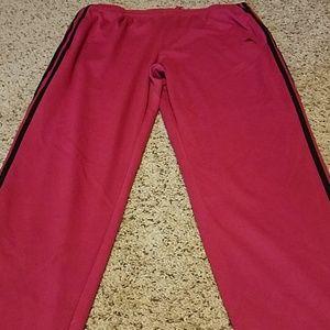 Fuchsia 3 stripe Adidas pants